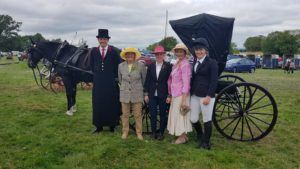 The elegant ladies with Adam, whip on Ben Good's doctor's carriage