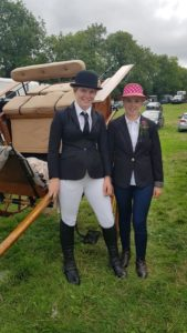 Elegant ladies - Holly (whip) and her groom, Roisin